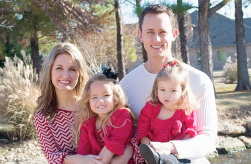 Dr. Travis Ring of Eastern Oklahoma Chiropractic and his family