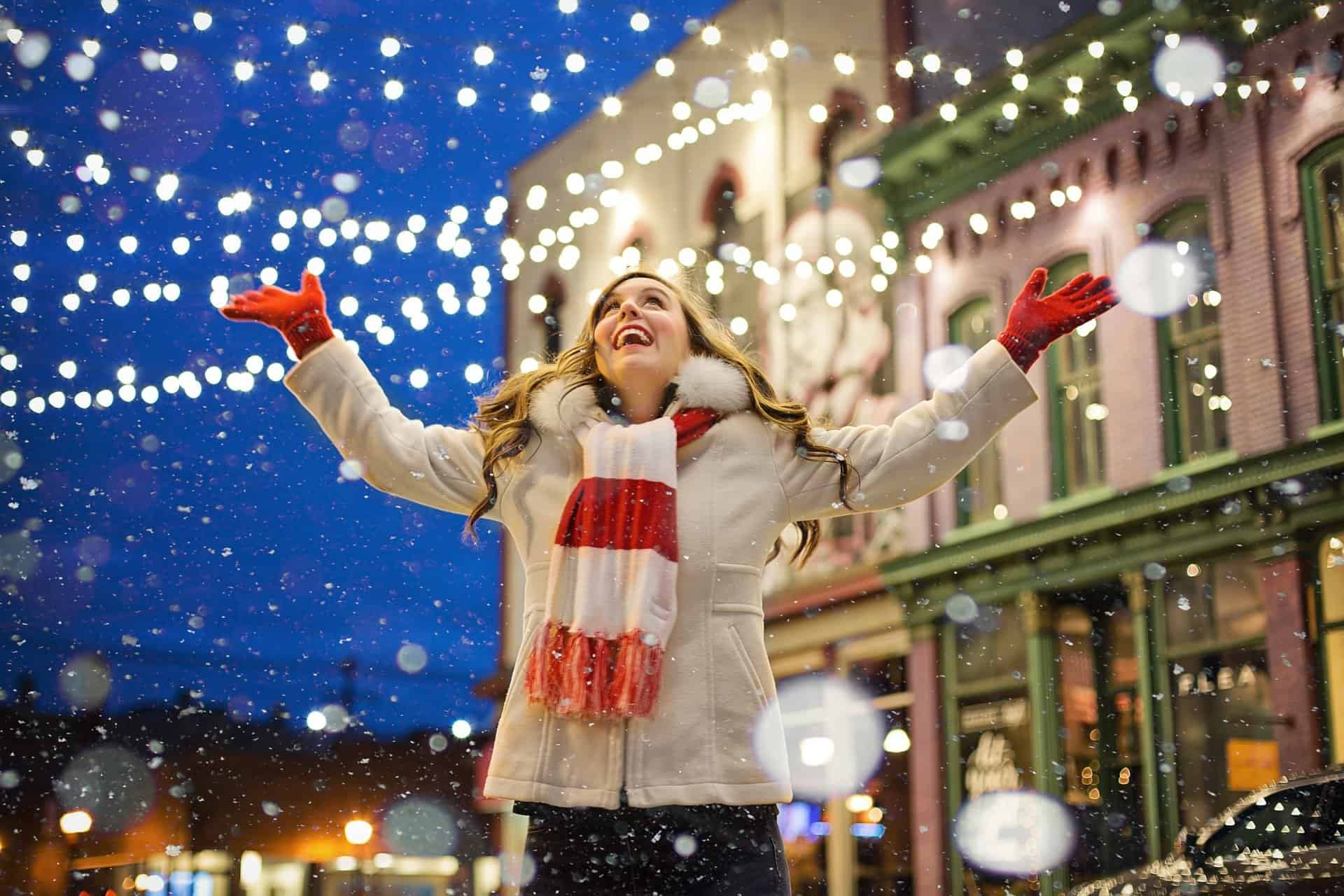 Woman Enjoying the holiday season with less stress and better health.