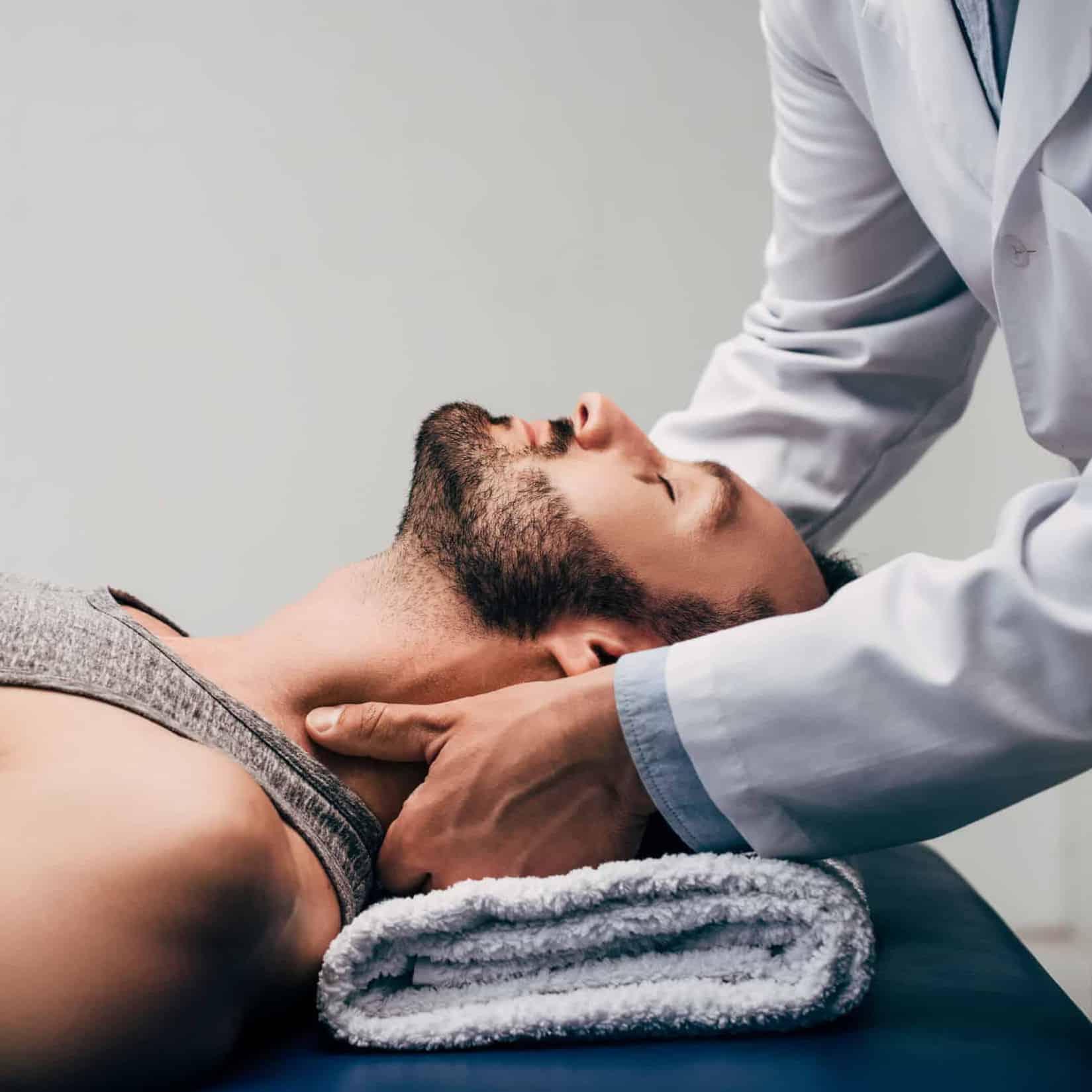 Walk-In Chiropractor Adjusting Client